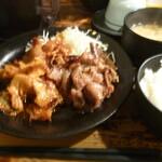 122247159 - 豚キムチ炒め&豚生姜焼き定食