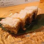 Nihonshuanginnomori - カニ身とカニ味噌の重ね蒸し