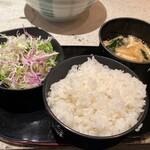 香季庵 - ご飯&サラダ
