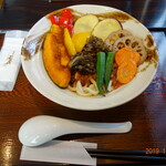 游喜庵(遊喜庵) - キーマ&揚げ野菜