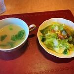 スパゲティハウスMACKY - スープ サラダ