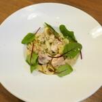 122267505 - マッシュルームと白菜のトリュフクリームパスタ