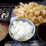囲炉裏 - 料理写真:かき揚げ定食!