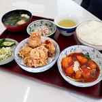 鳴門カントリークラブ レストラン - エビチリ唐揚げ定食