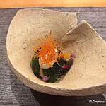 122281150 - 生湯葉と野菜の柑橘ジュレ掛け