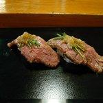 幸鮨 - 鳥取牛の握り寿司