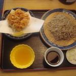 Sobadokorotogakushi - 十割ざる+桜海老かき揚げ