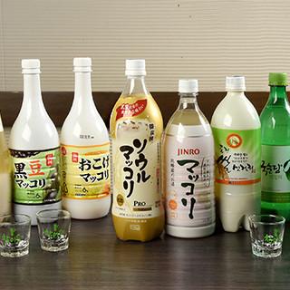 マッコリや韓国酒、韓国ソフトドリンクなど韓国ドリンクが充実!