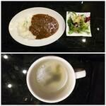 122301225 - ◆シュバル特製カレーライス、サラダ◆ポークカレー♪                       ◆中華スープ◆♪ドリンクバー♪