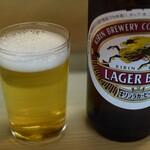 とんかつ 代々木庵 - 瓶ビール×2