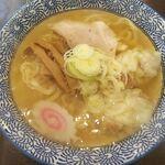 手打ちラーメン 清仁軒 - 塩ワンタンメン(手打ち麺)