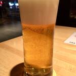 喜乃字屋 - 「生ビール」@550(税込)  クリームのような繊細な泡立ちの生ビールです