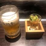 花門亭 - 生ビールとお通し