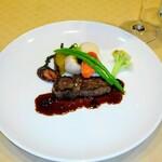 ふらんす厨房 Kei - 蝦夷鹿のロースト、ブルーベリーソース