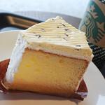 スターバックスコーヒー - ラムレーズンクリームシフォンケーキ390円税別