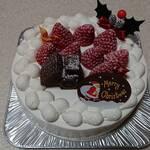 ラ・ブランシュ - クリスマスケーキいちご6号サイズ