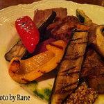 12233243 - 赤城高原豚ロース肉のグリル 季節の野菜添え