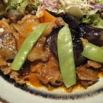 12233668 - 牛肉と茄子のピリ辛味噌炒めのアップ