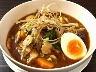 東京らっきょブラザーズ - <1月限定>牛モツ煮込みのスープカレー