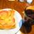 トムズカフェ - ハムチーズトーストセット 780円(税込)【2019年12月】