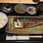 魚菜料理 二代目 みつい - サバ炭火焼定食:¥880