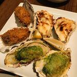 オストレア oysterbar&restaurant - 牡蠣料理3品盛り合わせ