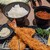 新宿さぼてん - 料理写真:「[料理] ミックスかつご膳 全景♪W (味噌汁椀の蓋を取った所)