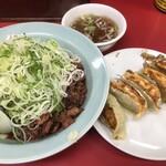 菜苑 - ・純レバ丼 1,100円 ・ぎょうざ 400円