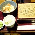 武蔵野 - 冷たいお蕎麦+塩かき揚げ丼