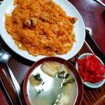 食事の店 丸竹 - 料理写真:チキンライス 600円