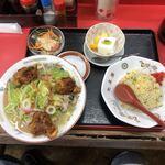 光昇園 - 料理写真:唐揚入り ちゃんぽん Bセット