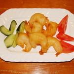 天心 酒菜厨房 - 海老の揚げ物
