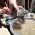 12237894 - 水たきコース(スープ)¥2300