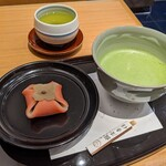 茶寮TSURU - [料理] 生和菓子 & 抹茶 セット 全景♪W