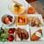 バイキングレストラン ラ・ベランダ - 秋らしい豚肩肉のグリルきのこソースや具沢山の混ぜご飯、奥はプリン・オ・フリュイ