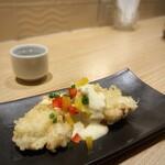 蕎麦cafe 粉々奈 - とり天タルタルソース(ハーフ)