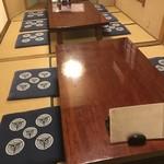 炭火焼鳥 さんぽ - お座敷席。最大20名様までご利用可能です。