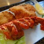 レストラン わか菜 - ハーフロブスター、ヒレ、帆立のカツ