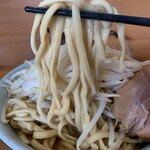 ラーメン二郎 - 【2019.11.19】加水低めの太麺。