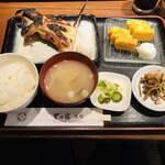 里の宿 - 鰤カマ塩焼 定食(1,400円)