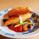 テラス サルサ - 料理写真:ささみの包み(大葉とモッツァレラチーズ)トマトソース