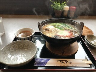 ちから - 鍋焼きうどん1250円です(2019.12.26)