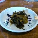 九州筑豊ラーメン 山小屋 - 高菜。