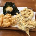 天ぷら 佐久間 - 最後 食べれずお土産に