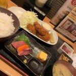 四ツ谷 魚一商店 - カキフライ定食1000円