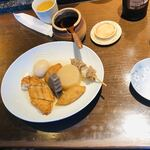 夢乃蕎麦 - おでん 7種盛