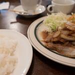 小さな街の食堂 cafe MISTY - ランチ(国産豚バラ旨みソース):890円/2019年12月