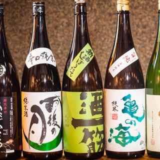 日本酒や焼酎も鮮魚にあわせて入荷。お好みの一杯をどうぞ。