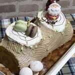 122408622 - 見た目もキレイなまさにクリスマスケーキ!!
