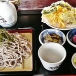 政五郎そば - 料理写真:「ざるそば&野菜天ぷら」\1200です